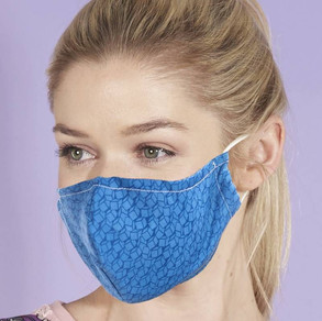 Blue Patterned Face Mask