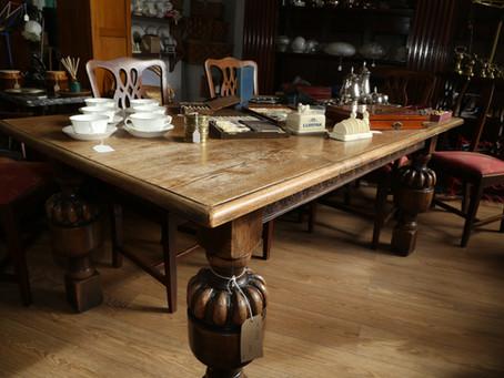 Solid Oak Table - £350