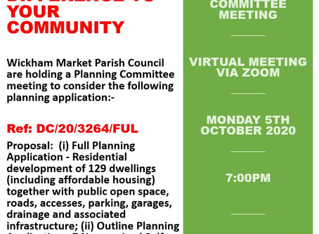 Planning Committee Meeting To Consider The Following Planning Application