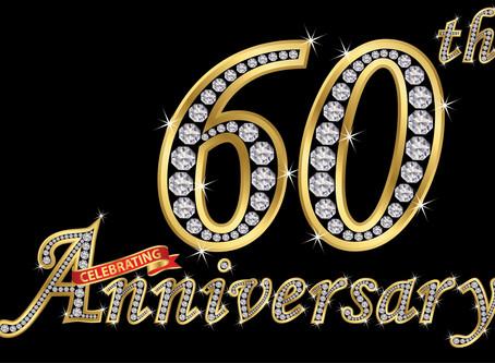 Happy Diamond Wedding Anniversary Jacqui & Don Berry
