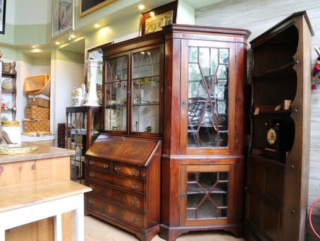 Edwardian Mahogany Corner Cabinet - £150