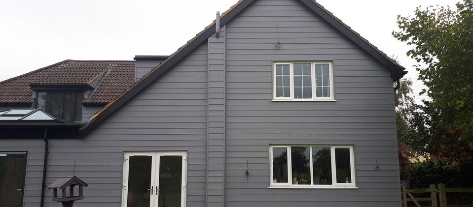 Large extension with cladding