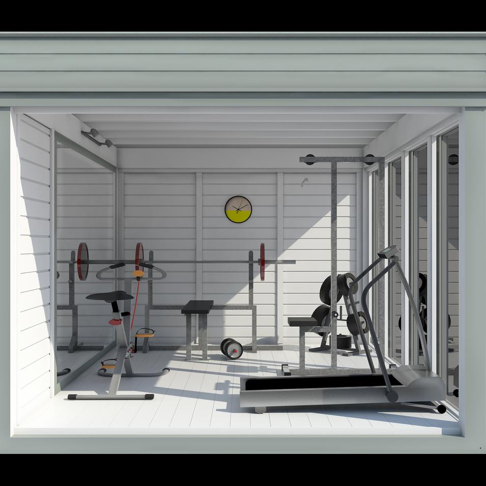 Garden Cube 4x3m Home Gym