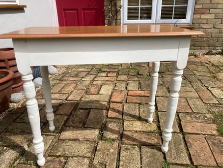 Restored Hardwood Table - £60