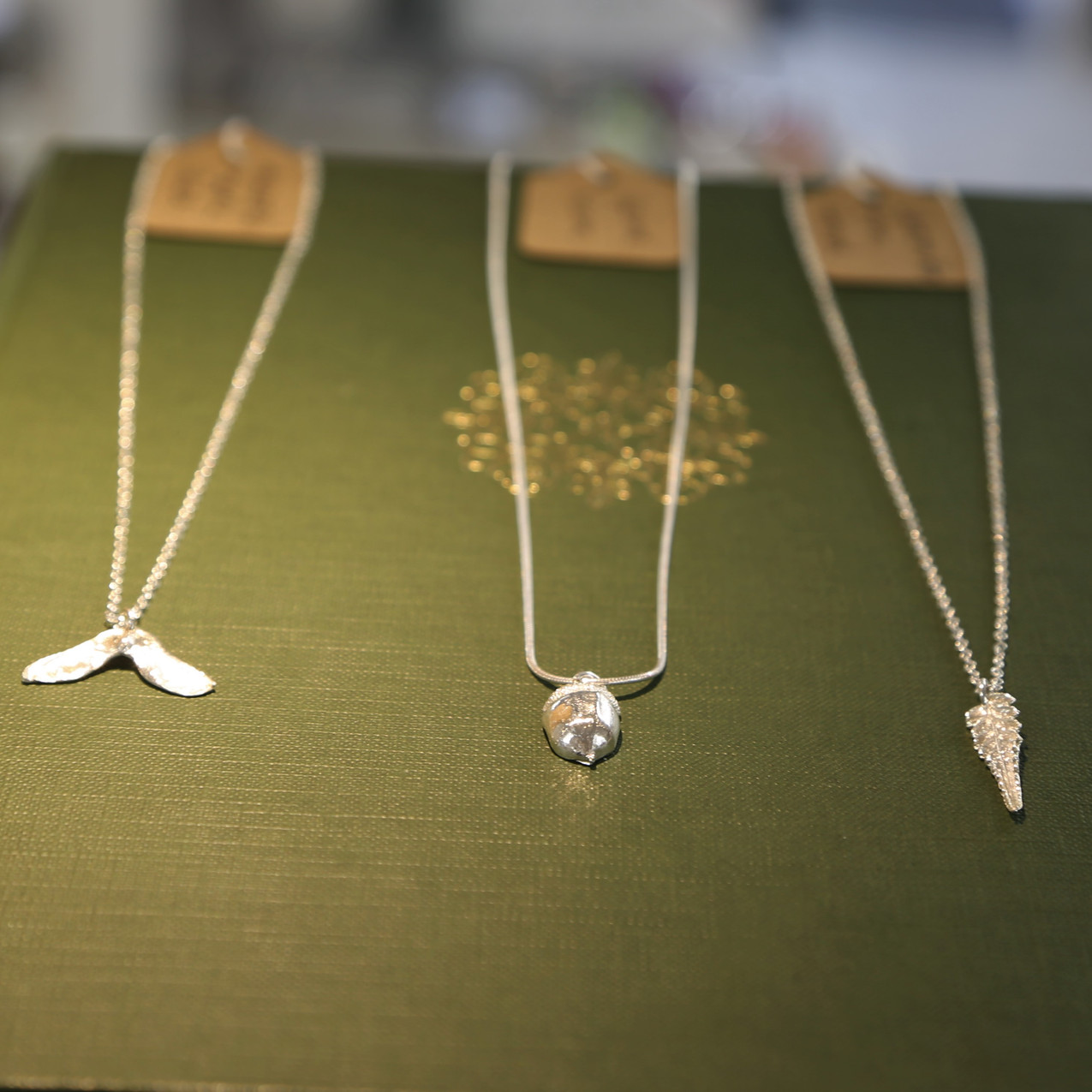Silver necklaces at Inspirations