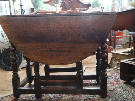 Oak Drop Leaf Table - £135