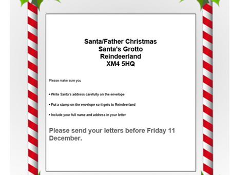 Letters to Santa via Wickham Market Post Office