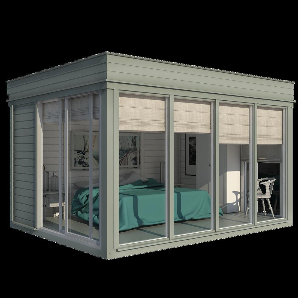 Garden Cube 3x4m Guest Bedroom