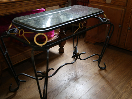 Marble Top Table - SOLD