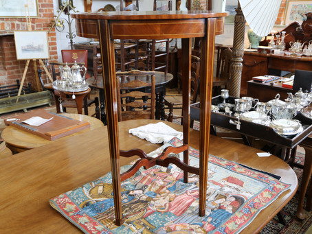 Occasional Table With Marquetry - £175