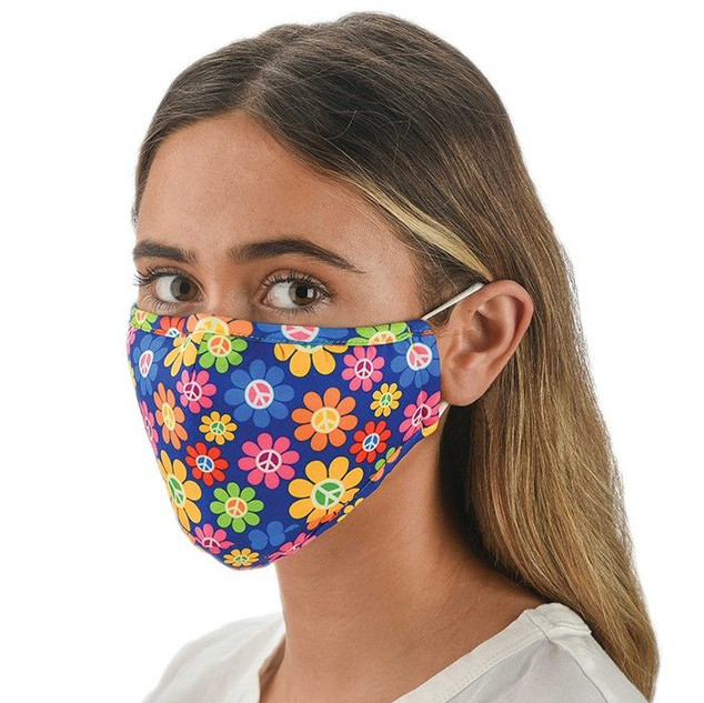 Peace Flower Patterned Face Mask