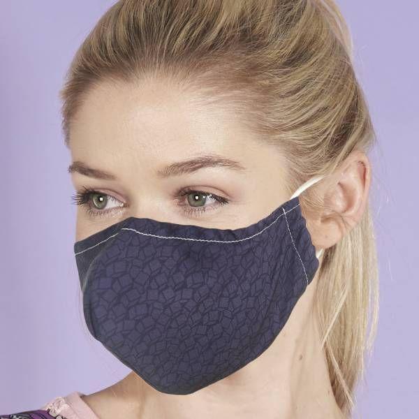 Grey Print Face Mask