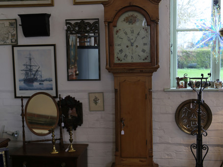 Pine Long Case Clock, 8 Day - SOLD