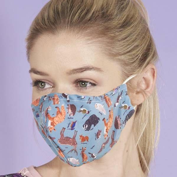 Badger Print Face Mask