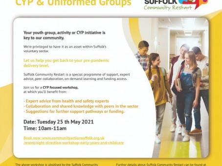 Restart Workshops: CYP & Uniformed Groups
