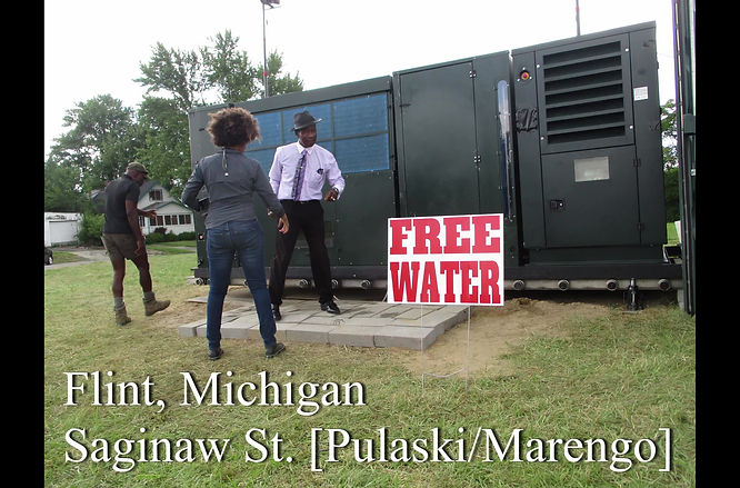 The Sister Tour, in conjunction with Latoya Ruby Frazier and Moses West bring an Atmospheric Water Generator to the residence of Flint Michigan giving away of 20,000 gallons in 60 days!