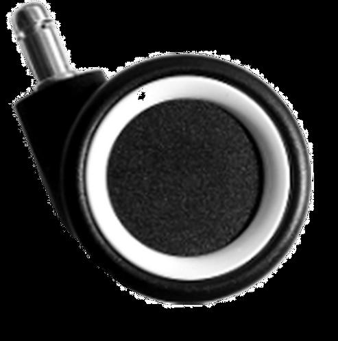 ролики для геймерских кресел черно-белые