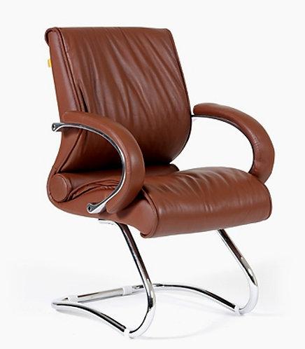 Конференц кресло CH 445 кожаное коричневое купить