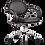 кресло офисное, парикмахерское MP-71 хром, Бейсик черное