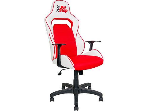Кресло av140 геймерское белое красное