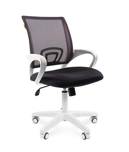 Кресло CHARMAN 696 white черная ткань