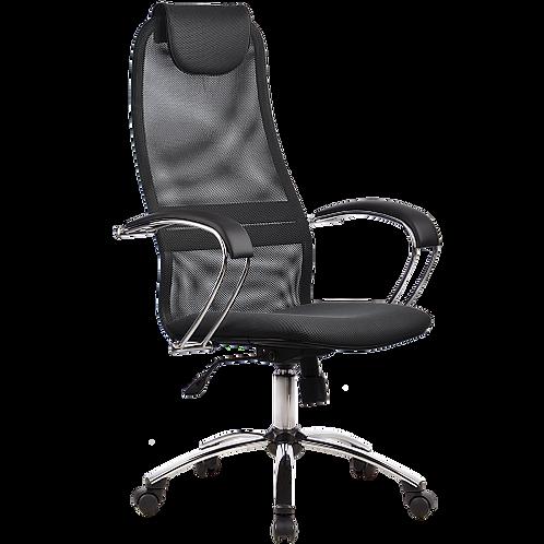 Кресло сеточка Bk-8 ch хром эргономичное темносерое купить