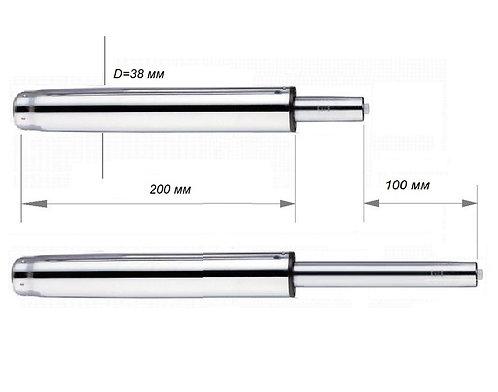Газлифт для кресла ход 100 мм Д=38 мм хром класс 2