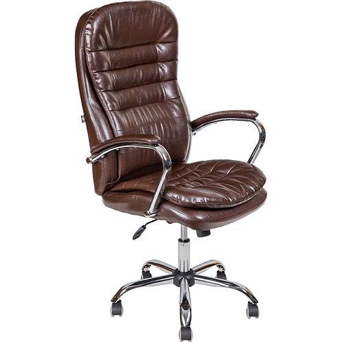 Кресло директора AV118 коньяк коричневое