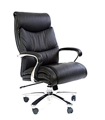 Кресло CHARMAN 401 кожаное до 250 кг с гарантией нагрузка до 250 кг