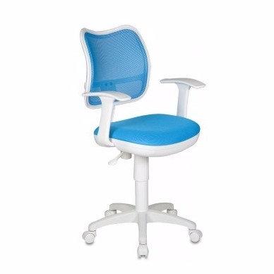 Голубое детское кресло CH797 белый пластик в Железноводске купить Пятигорск