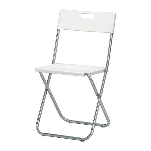 стул икеа складной Гунде белый