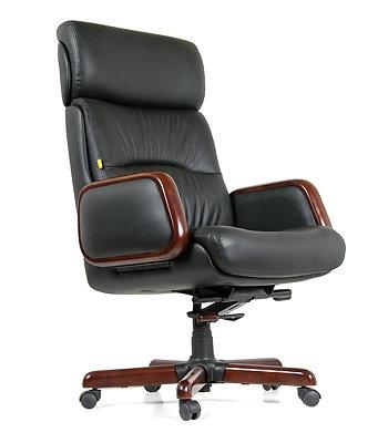 Кресло CHARMAN 417 кожаное удобное надежное с гарантией  до 150 кг