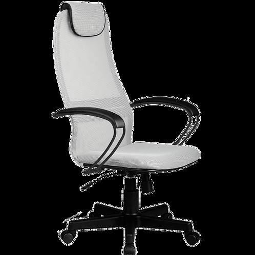 Кресло сеточка Bk-8 pl пластик эргономичное светло-серое купить