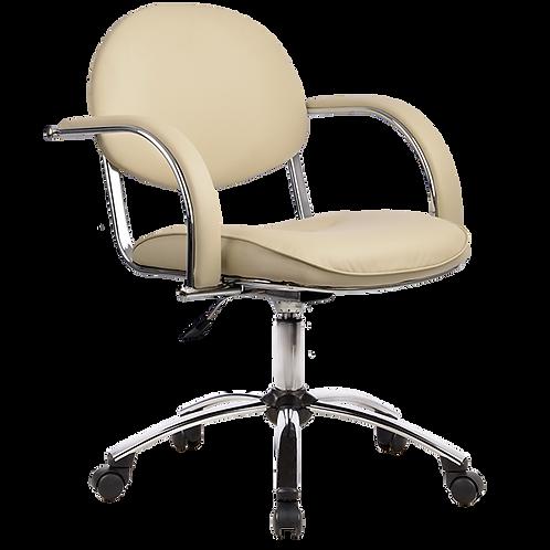 кресло офисное, парикмахерское MP-71 хром, Бейсик бежевое