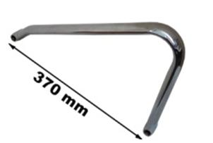 Подлокотник сталь, хром AR-B08, комплект Под заказ