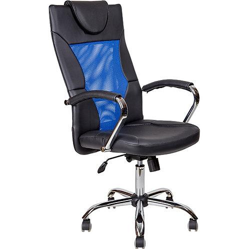 Кресло сетка синяя AV134 с подголовником купить в Пятигорске Ессентуках