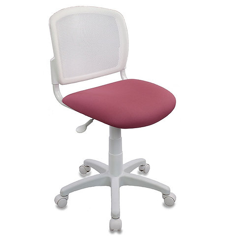 кресло детское компьютерное ch-w296nx розовое, белый пластик