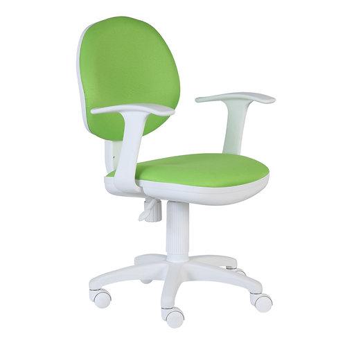 кресло детское яркое бюрократ CH-W356 белый пластик