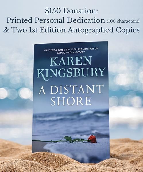 Printed Personal Dedication