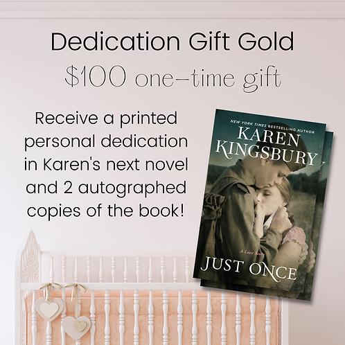 Dedication Gift Gold