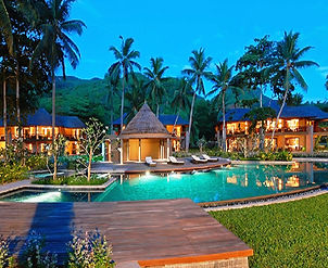 Constance Ephelia - Night view of pool & rooms at Constance Ephelia Seychelles