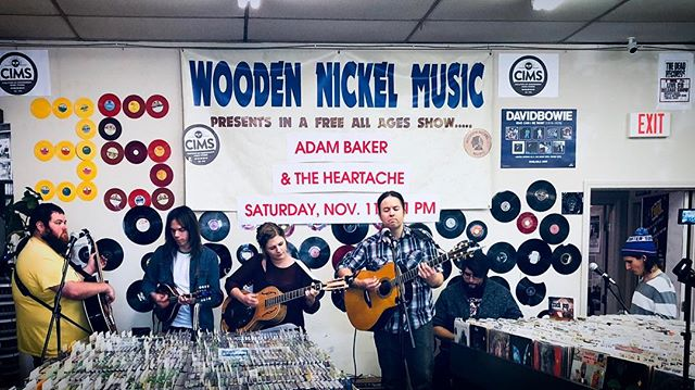Fun release show and amazing turn out _woodennickelrecords today!  So much love to our friends and f