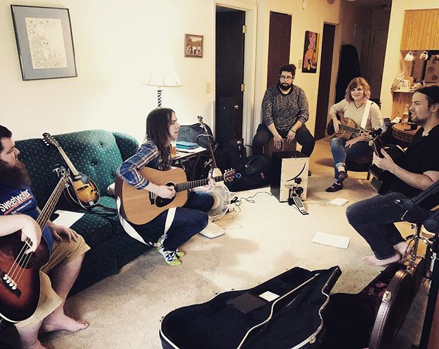 Rehearsal last night for the release show at _woodennickelrecords next Saturday, Nov 11th!  We have