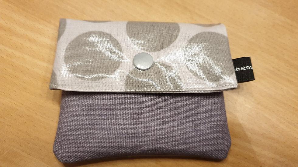 kleines Portemonnaie Dots Giant Grau