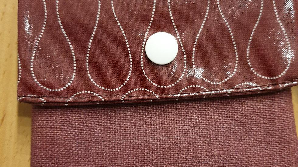 kleines Portemonnaie Omnia Ginger Red