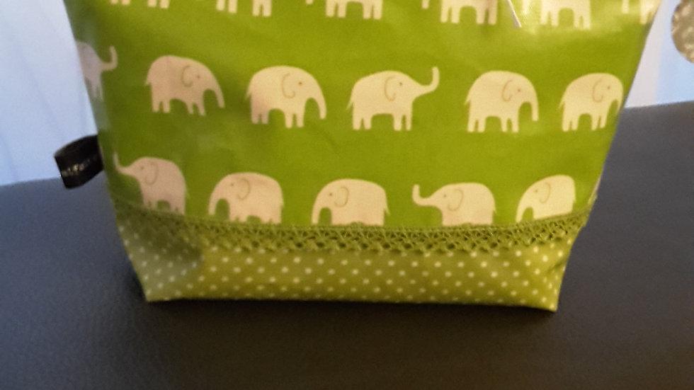Necessaire Elefanten Grün