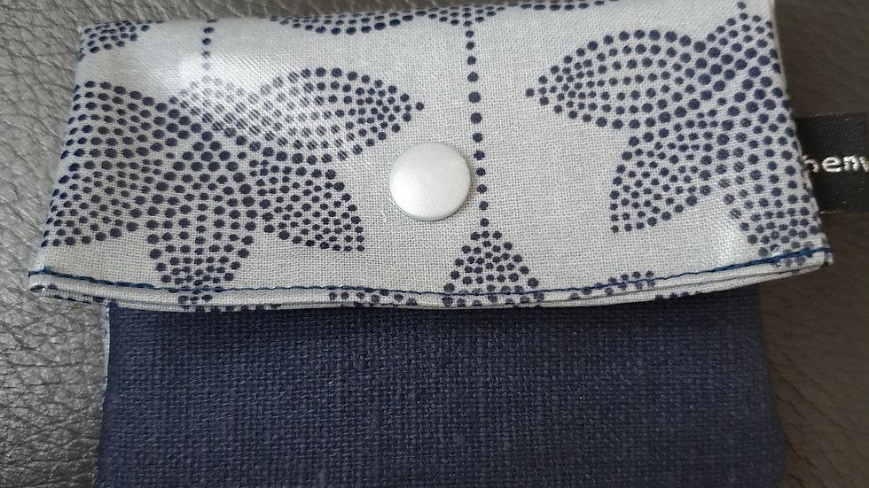 kleines Portemonnaie Lotus Dusty Blue