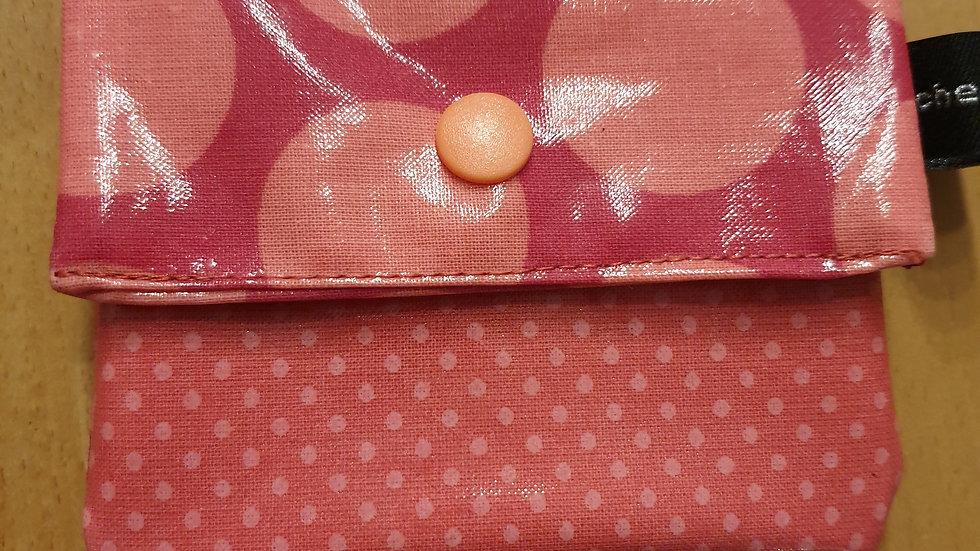 kleines Portemonnaie Dots Giant Rasperry Peach Pink