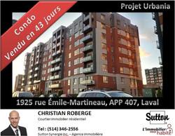 Condo vendu à Laval