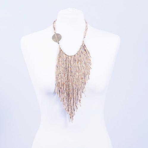 Fringe Necklace with detachable bracelet, Termite